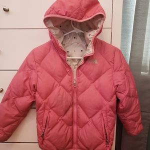 Girl's North Face reversible puffer coat